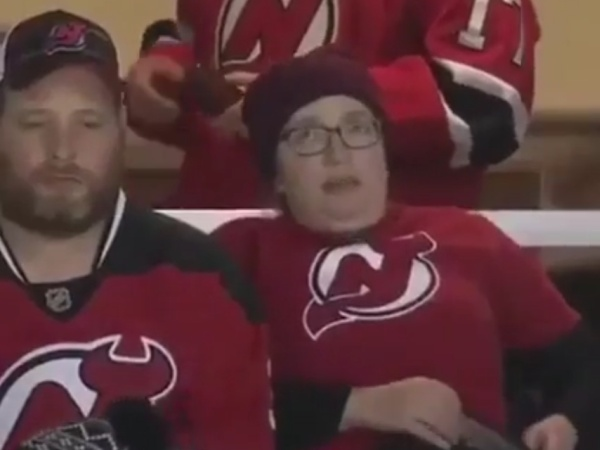 Lady Has Been Waiting To Be On The Kiss Cam Her Entire Life