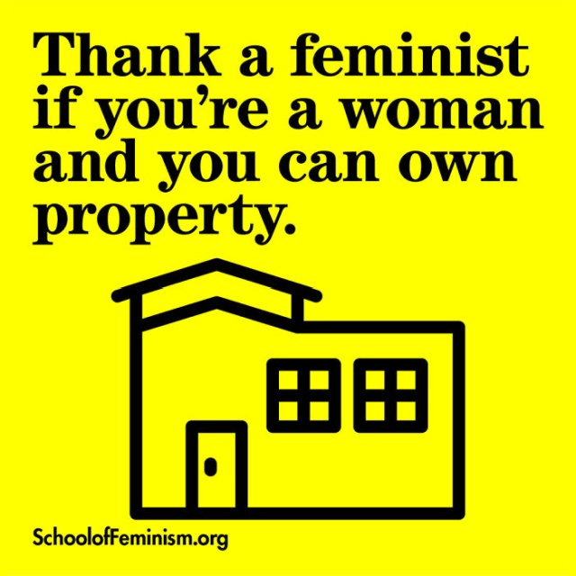 Posters Showing What Women Should 'Thank A Feminist' For (20 pics)