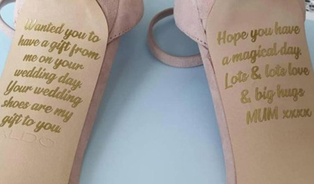 Bride Finds Secret Message From Her Dying Mum On Her Wedding Shoes (3 pics)