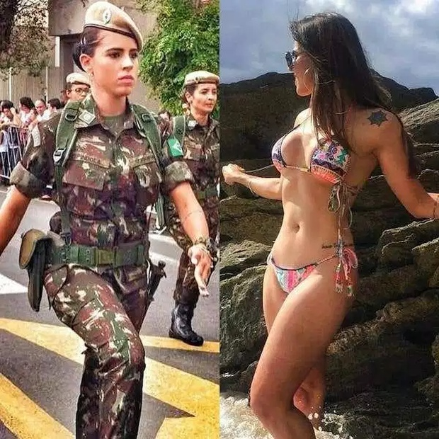 Girls With And Without Uniform (28 pics)