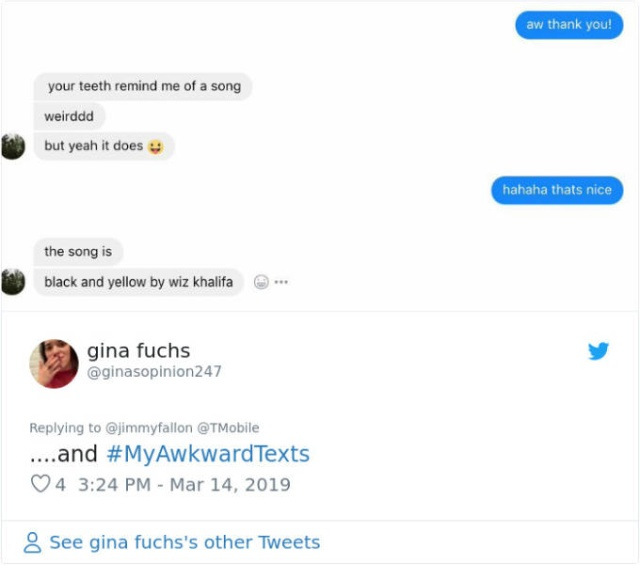Jimmy Fallon Strikes With A #MyAwkwardTexts Challenge (29 pics)