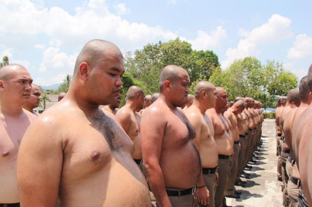 Thailand Sends Overweight Policemen To Weight-loss Camp (3 pics)
