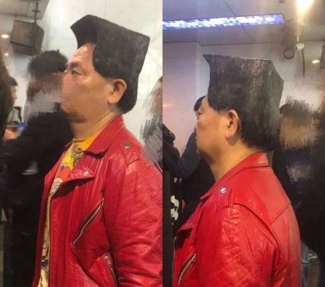 Average Joe Goes Viral Online Thanks to His Square Hairdo (5 pics)