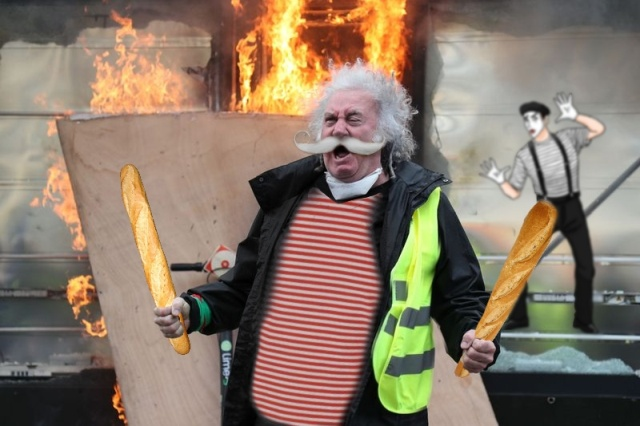 Man Rioting In Paris Gets Photoshopped (20 pics)