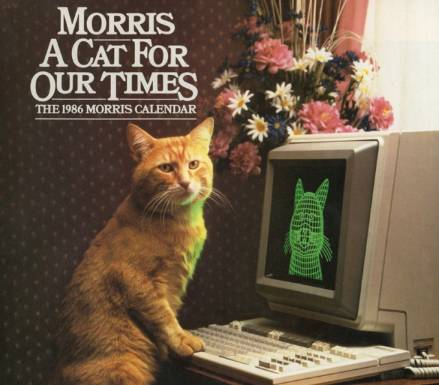 Vintage Calendar For 1986 With The Cat Morris (10 pics)
