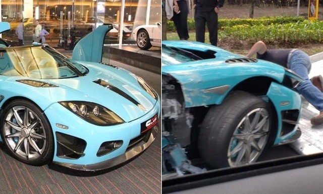 Mexican Businessman Destroys Koenigsegg Supercar Worth $1.5 Million And Built Specifically For The Qatari Royal Family Several Months After He Bought It From Them (8 pics)