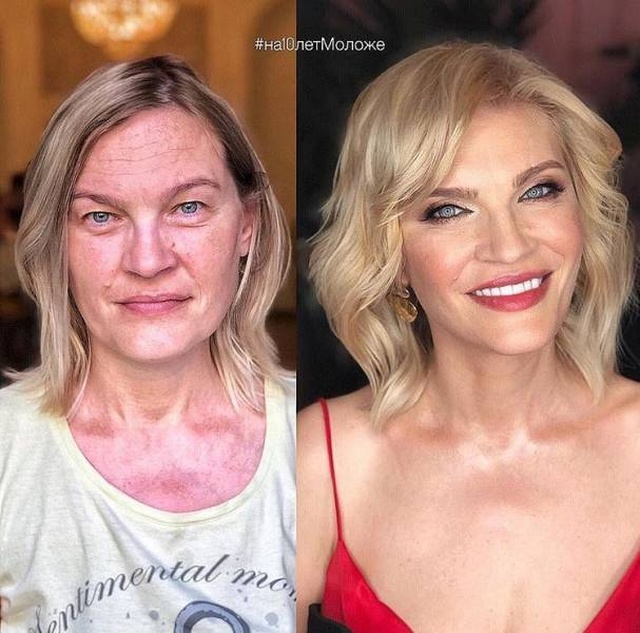 Women Before And After The Makeup (26 pics)
