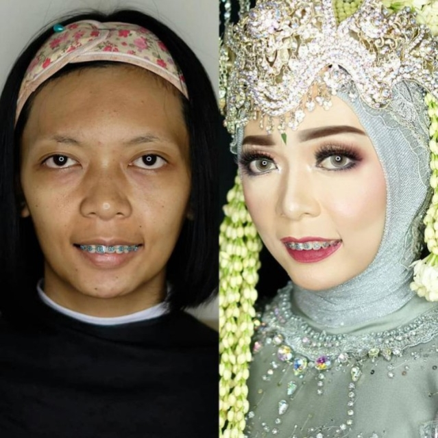 Asian Brides Before And After Wedding Makeup (25 pics)