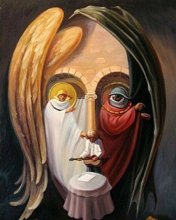 An Artist Uses Optical Illusions To Draw Famous People Of The Past (32 pics)