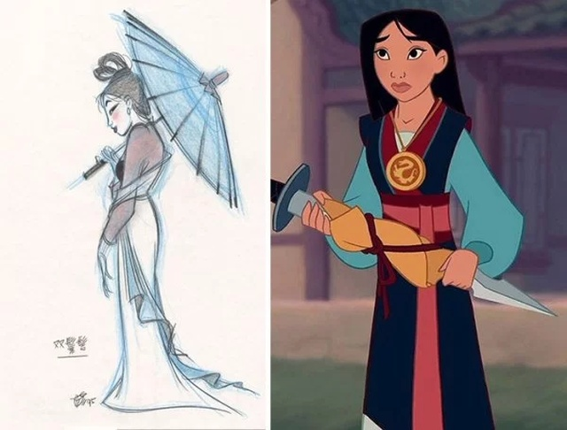 Disney Concept Sketches Compared To Real Characters (30 pics)