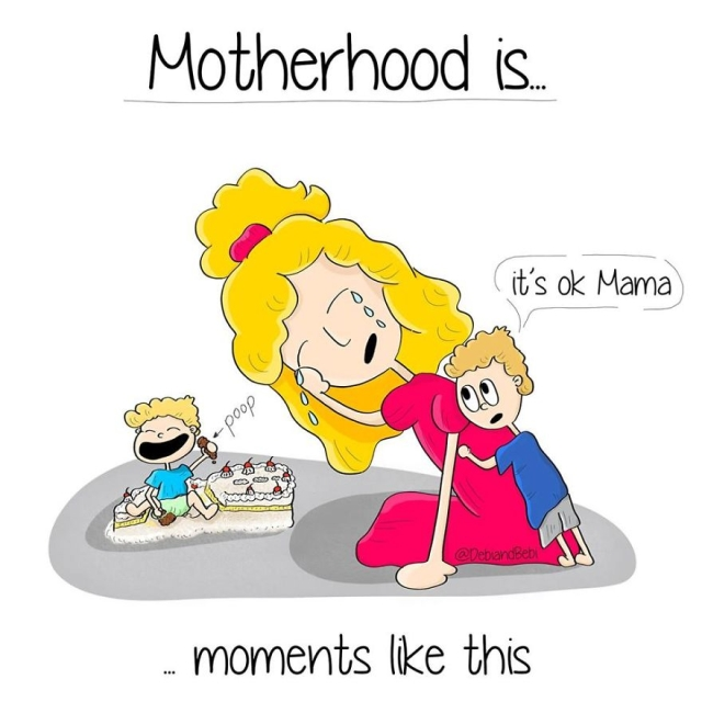 Motherhood Moments In Comics (30 pics)