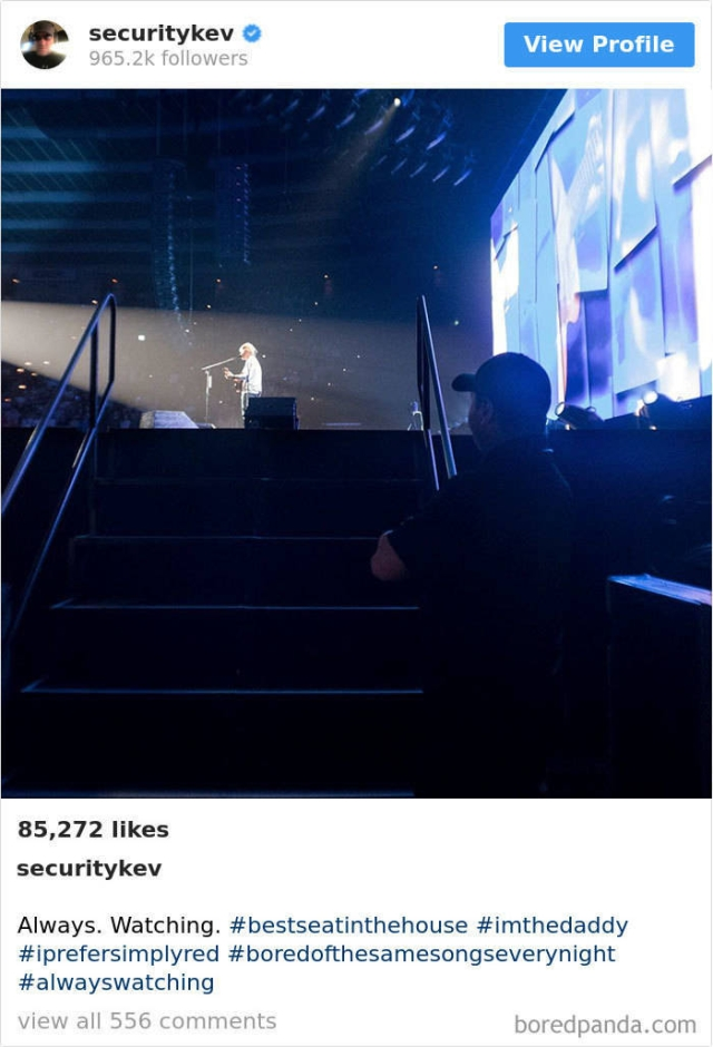 Ed Sheeran's Bodyguard's Instagram Account Is Awesome (30 pics)