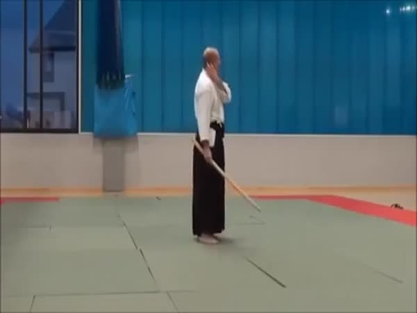Aikido Master Demonstrates The Absolute Best Technique For Self Defense Against A Sword