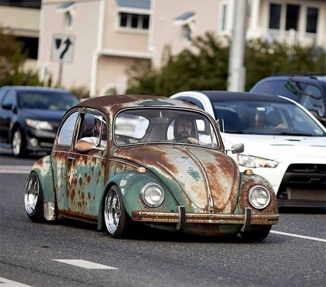 Volkswagen Beetle Rat Rods With Patina Look (20 pics)