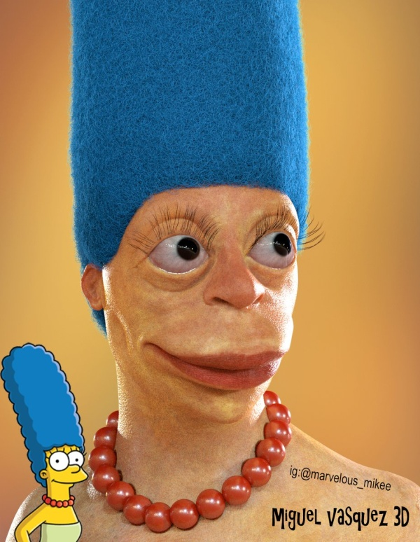 Homer And Marge Simpson In Real Life (3 pics)
