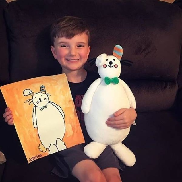 Children's Drawings Can Now Be Turned Into Real Plush Toys (30 pics)