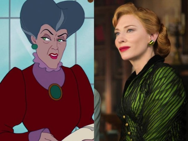 Disney Live Action Movie Characters Vs. Their Animated Prototypes (51 pics)