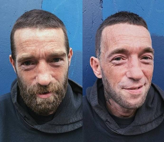 British Hairdresser Gives Homeless People Free Makeovers To Boost Their Self-Confidence (35 pics)