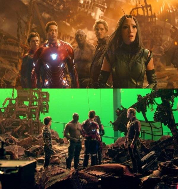 "How ""Infinity War"" Looks Without All The Visual Effects (18 pics)"