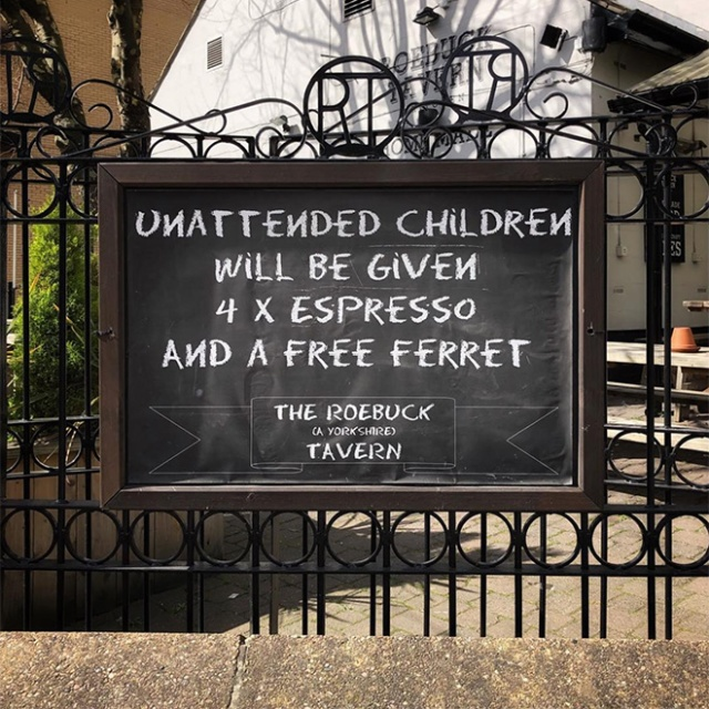 """Funny """"Unattended Children"""" Warning Signs (19 pics)"""
