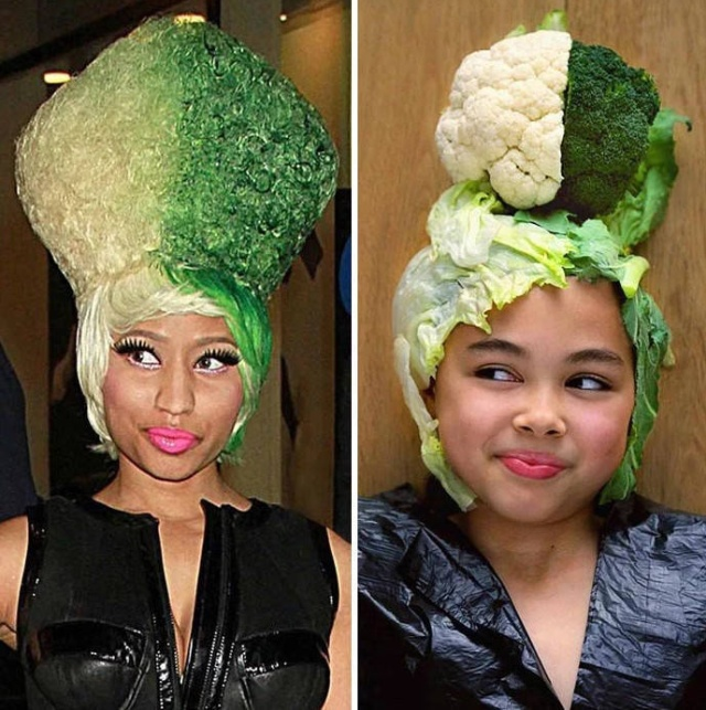 Nine-Year-Old Girl Uses Food And Other Things To Look Like Celebrities (30 pics)