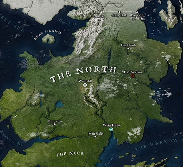 Map Of Westeros That Looks Like A Location On Google Maps (5 pics)