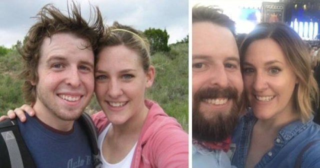 Couples Compare Their Current Photos To Their High School Photos (22 pics)