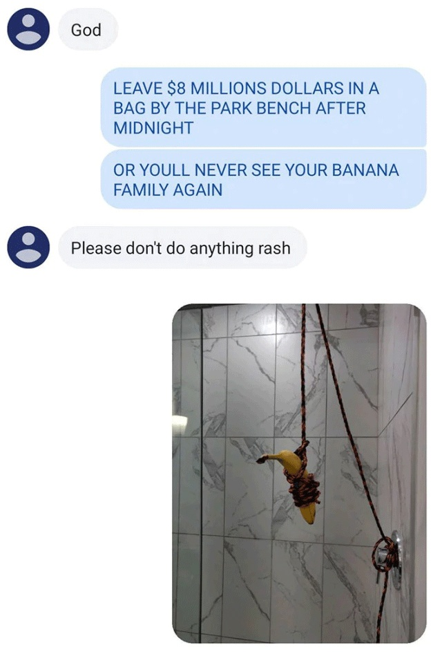 Kidnapping Friend's Banana Family (10 pics)