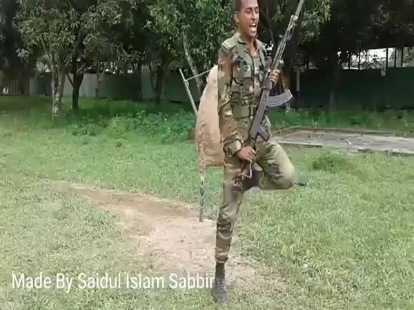 Funny Bangladesh Army Training