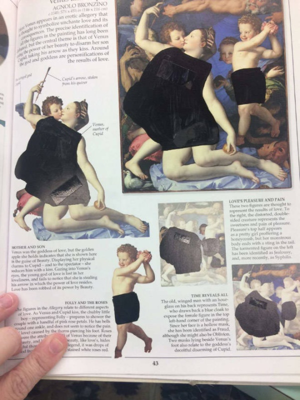 Christian College Students Show How Censored Their Classical Art Books Are (11 pics)
