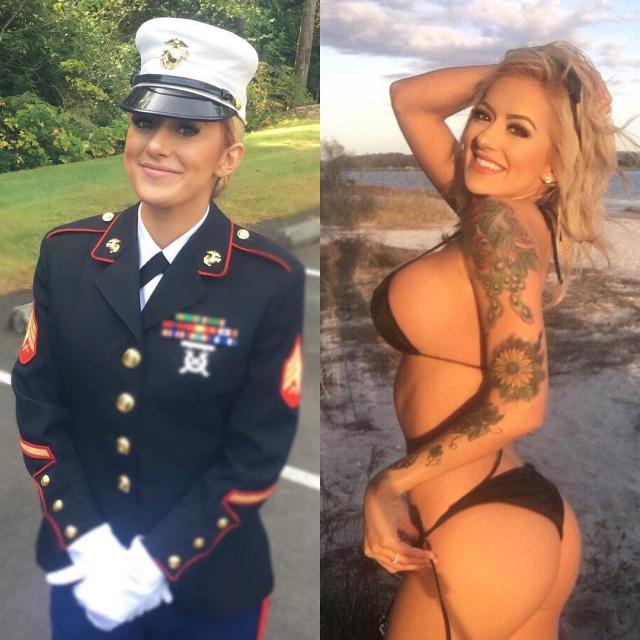 Hot U.S. Marine Known As Combat Barbie (25 pics)
