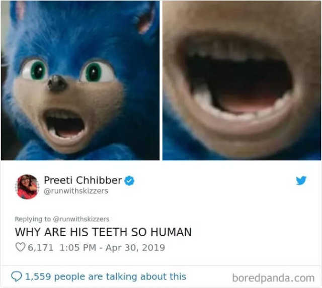 Fans Force The Creators Of The New Sonic The Hedgehog Movie To Change His Design (32 pics)