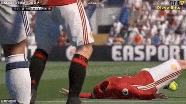 Sports Video Game Glitches (18 gifs)