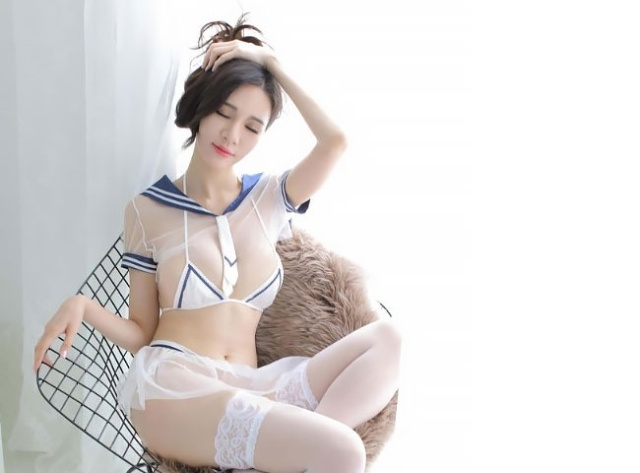 See-Through Japanese Schoolgirl Lingerie (9 pics)