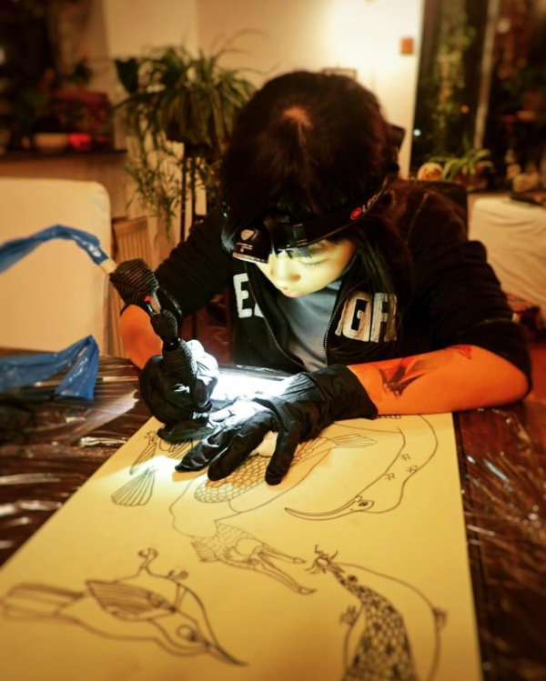 Noko Is A 10-Year-Old Tattoo Apprentice (12 pics)