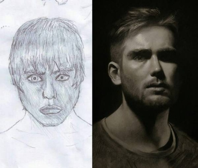 """Draw This Again"" Challenge By Artists (20 pics)"