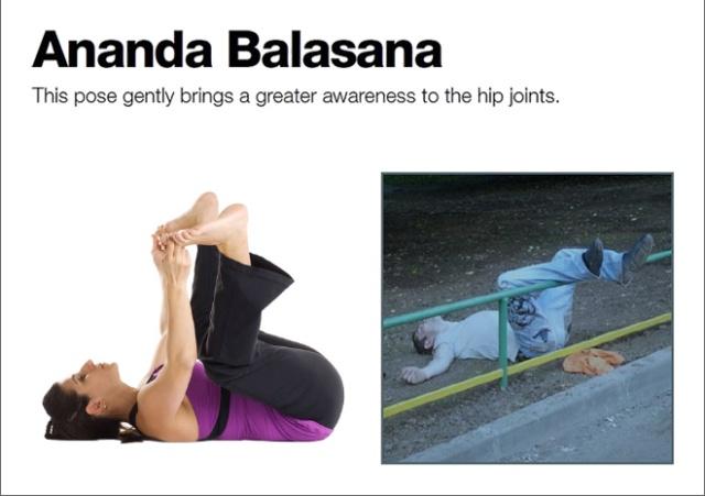 Drunk Yoga Positions (10 pics)
