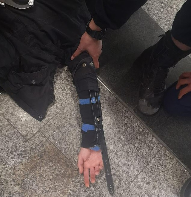Paris Police Arrest Man Wearing Hidden Blades That Could Fire Out From His Wrists (2 pics)