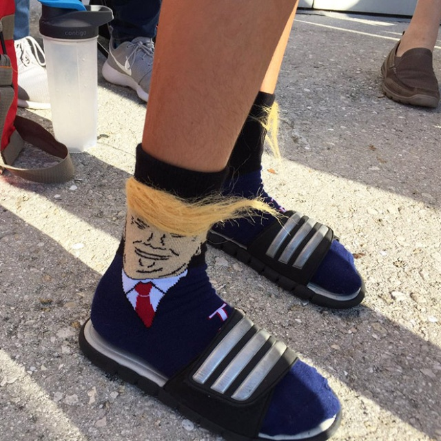 Donald Trump Socks With Comb-Over Hair (19 pics)