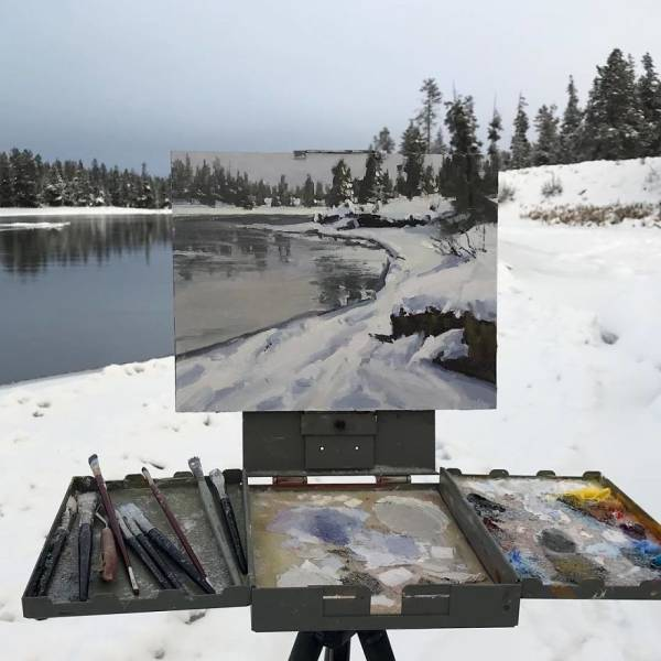 Artist Combines Paintings And Photos Of Nature (30 pics)