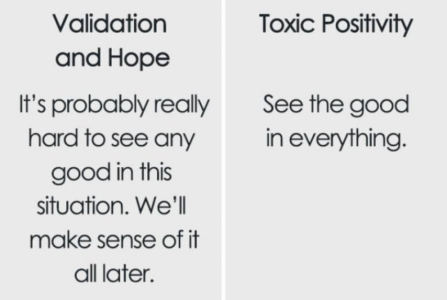 The Difference Between Support And Toxic Positivity (9 pics)