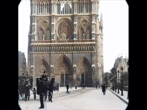 Colorized Paris Of The 1890's With Sound