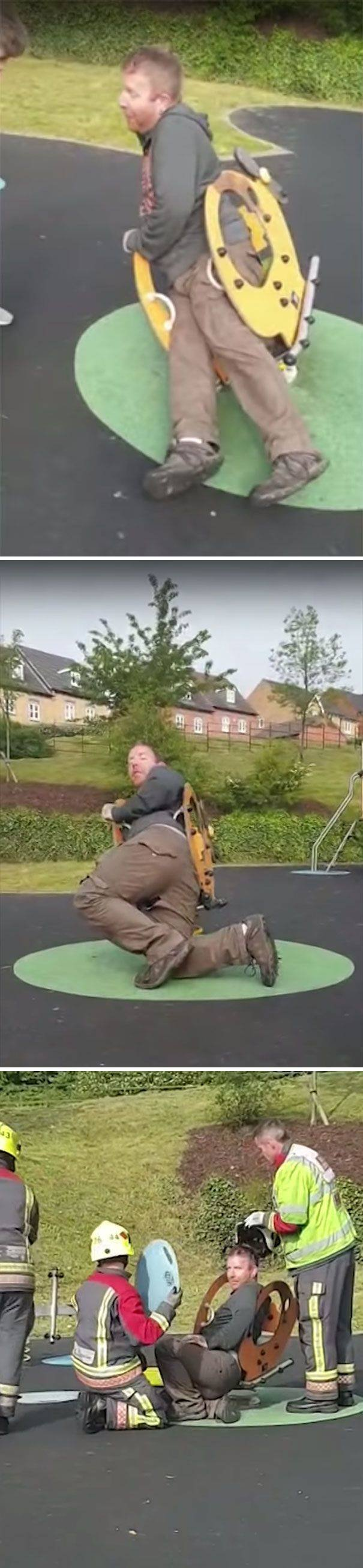Adults At Childrens' Playgrounds (36 pics)