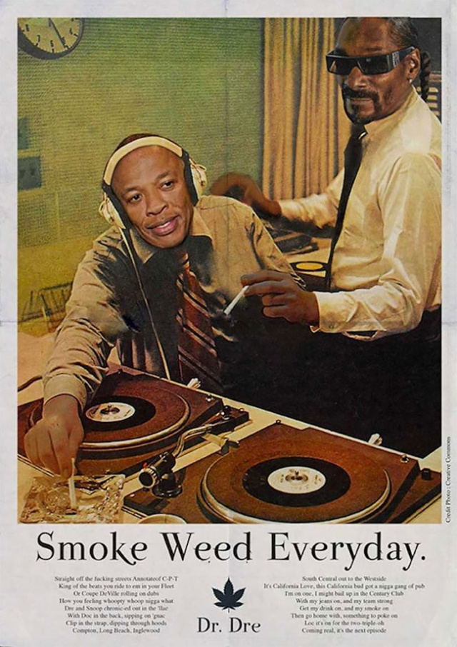 Famous Music Hits Turned Into Vintage Ad Posters (35 pics)