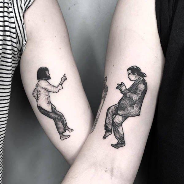 Awesome Matching Tattoos (50 pics)