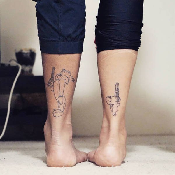 Awesome Matching Tattoos (50 pics)