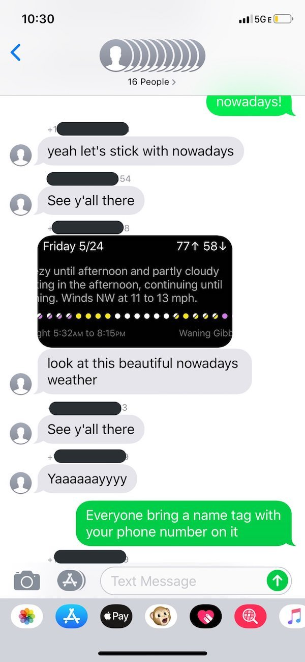 Wrong Number Text From UPS Leads To Neighborhood Band (9 pics)