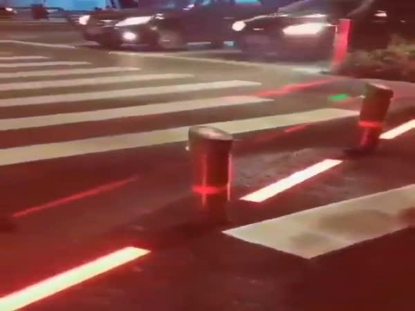 Hi-Tech Crosswalk In Singapore