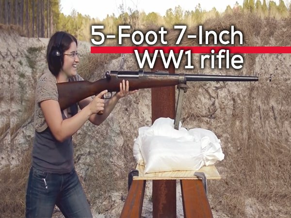 This Girl Is Shooting A 5-Foot 7-Inch WWI Rifle (18 pics)