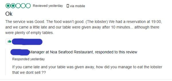 These Restaurant Owners Know How To Deal With Bad Reviews (23 pics)